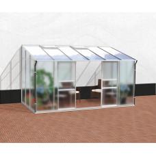 VITAVIA IDA skleník 7800 matné sklo 4 mm + PC 6 mm strieborný Preview