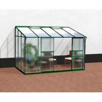VITAVIA IDA skleník 6500 matné sklo 4 mm + PC 6 mm zelený