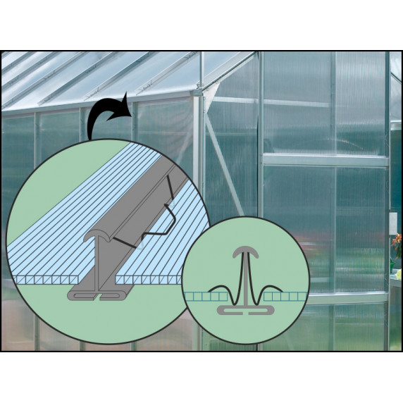 VITAVIA IDA skleník 3300 PC 4 mm strieborný