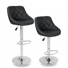 Tresko Barová stolička čierna-2 kusy Preview