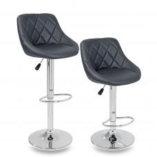 Tresko Barová stolička sivá - 2 kusy Preview