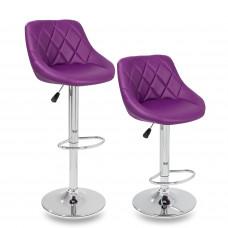 Tresko Barová stolička fialová - 2 kusy Preview