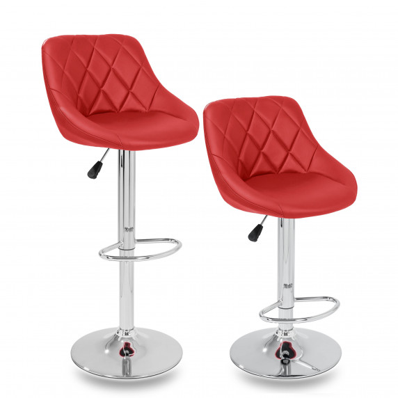 Barová stolička 2 kusy Aga MR2000RED - Červená