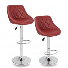Aga Barová stolička 2 kusy - Burgundy Preview