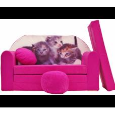 Aga detská pohovka MAXX 477 - Mačičky Preview