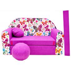 Aga detská pohovka MAXX 736 - Motýle/ružová Preview
