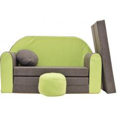 Aga detská pohovka MAXX 002 - Zelený/siví Preview