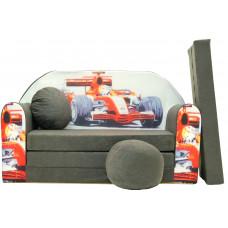 Aga detská pohovka MAXX 064 - Auto F1 sivá Preview