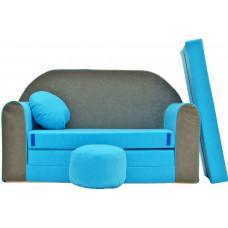 Aga detská pohovka MAXX 163 - Modrá/sivá Preview