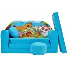 Aga detská pohovka MAXX 187 - Farma/modrá Preview