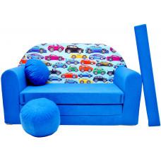 Aga detská pohovka MAXX 262 - Autá/modrá Preview