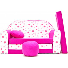 Aga detská pohovka MAXX 863 - Hviezdičky/ružová Preview