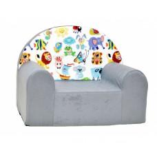 Aga detské kresielko MAXX 842 - Zvieratká/sivé Preview