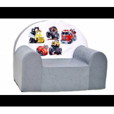 Aga detské kresielko MAXX 859 - Autá/sivé Preview