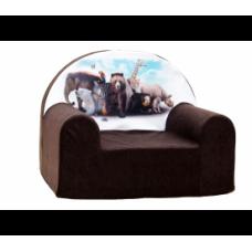 Aga detské kresielko MAXX 184 - Zoo/hnedé Preview