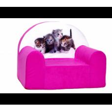 Aga detské kresielko MAXX 177 - Mačičky/ružové Preview