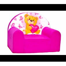 Aga detské kresielko MAXX 061- Macko/ružové Preview