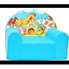 Aga detské kresielko MAXX 910 - Farma/modré Preview