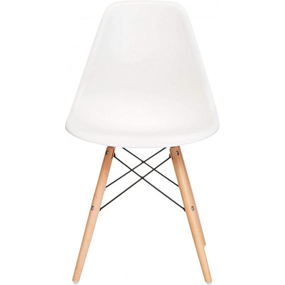 Jedálenská stolička 4 ks - biela