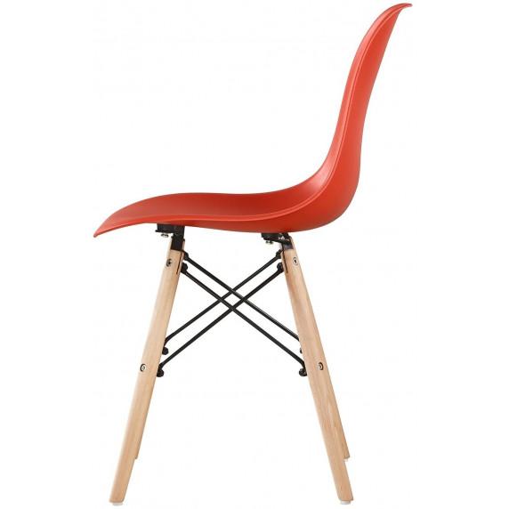 Aga Jedálenská stolička 4 ks - červená