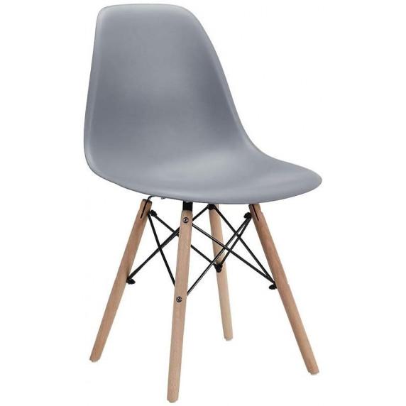 Jedálenská stolička 4 ks MRWCH-1GY Aga - sivá