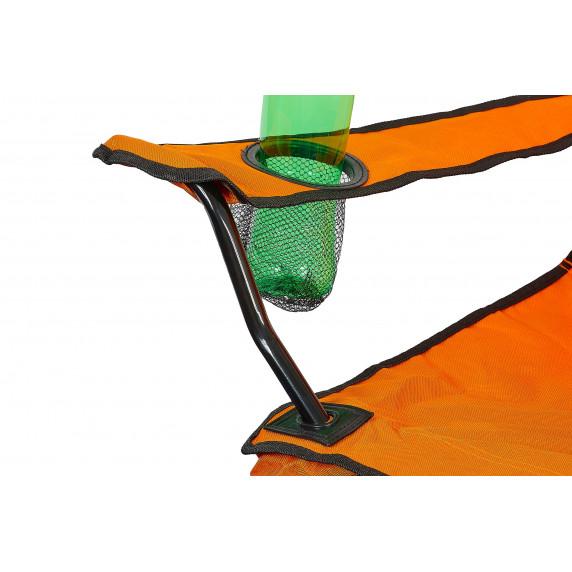 Linder Exclusiv kempingové kreslo ANGLER PO2468 oranžové