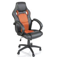 Kancelárské kreslo Aga Racing RS016 čierna-oranžová