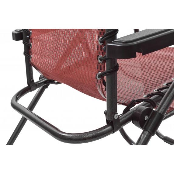Záhradné kreslo Linder Exclusiv AERO GRT MC3749 - červeno/čierne