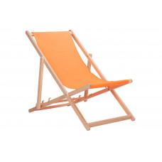 Drevené skladacie lehátko AGA - oranžové Preview
