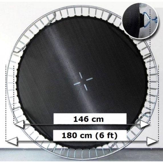 AGA odrazová plocha na trampolínu s celkovým priemerom 180 cm na 36 očiek