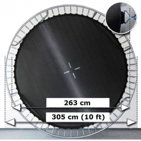 AGA odrazová plocha na trampolínu s celkovým priemerom 305 cm na 64 očiek