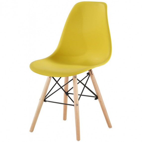 Jedálenská stolička 4 ks AGA MRWCH-1Y - žltá