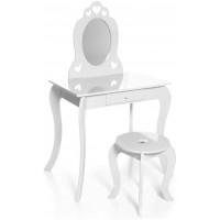 Aga4Kids Detský toaletný stolík MRDTC01W - biely