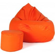 Aga Sedací vak XXXL + podnožník Oranžový Preview