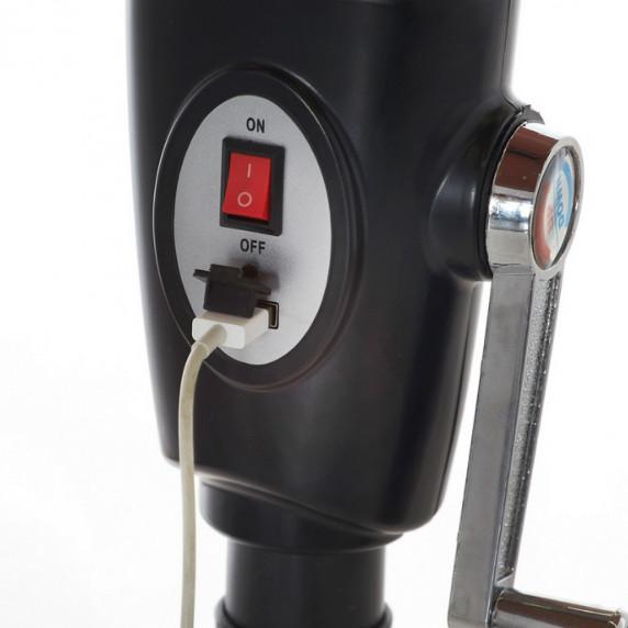 Aga slnečník CLASSIC 300 cm LED + integrovaná USB nabíjačka - kávový