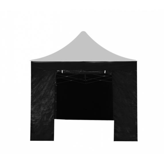 AGA Bočnica s dverami POP UP 3x3 m - čierna