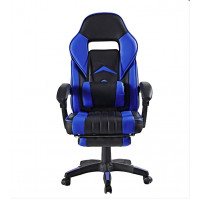 Kancelárske kreslo s opierkou na nohy Aga MR2040Blue - čierno-modré