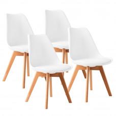 Jedálenská stolička 4 ks AGA MR2035W - biela Preview