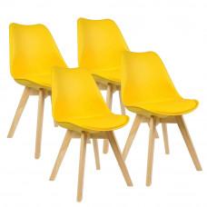 Jedálenská stolička 4 ks AGA MR2035Y - žltá Preview