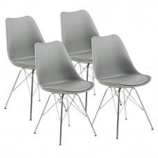 Jedálenská stolička 4 ks AGA MR2040G - sivá Preview