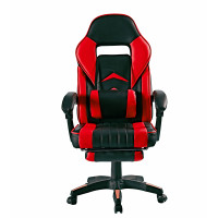 Kancelárske kreslo s opierkou na nohy Aga MR2040Red - čierno-červené