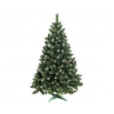 AGA Zasnežený vianočný stromček 160 cm so šiškami + umelohmotný stojan