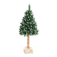 AGA Zasnežený vianočný stromček 220 cm s kmeňom a šiškami