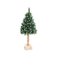 AGA Zasnežený vianočný stromček 180 cm s kmeňom a šiškami