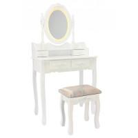 Toaletný stolík s LED osvetlením a taburetkou PHO3992LED