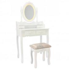 Toaletný stolík s LED osvetlením a taburetkou PHO3992LED Preview
