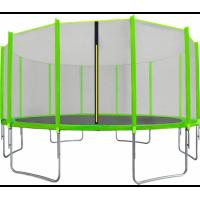AGA SPORT TOP trampolína 500 cm s vonkajšou ochrannou sieťou svetlozelená