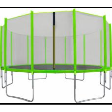 AGA SPORT TOP trampolína 500 cm s vonkajšou ochrannou sieťou svetlozelená Preview