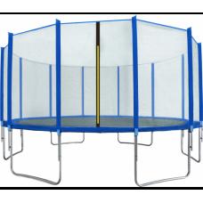AGA SPORT TOP trampolína 500 cm s vonkajšou ochrannou sieťou modrá Preview