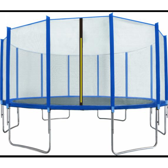 AGA SPORT TOP trampolína 500 cm s vonkajšou ochrannou sieťou modrá